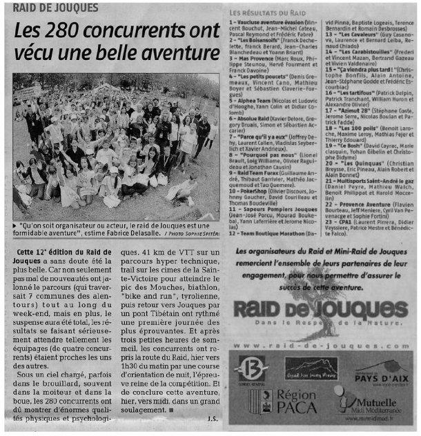 Article de presse Jouques 2008
